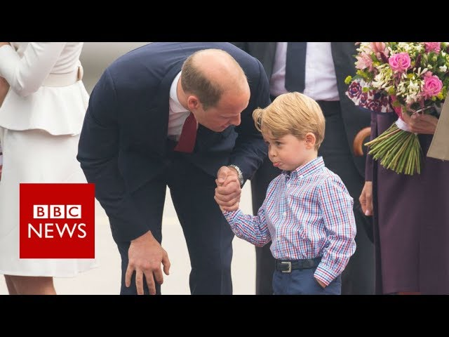 prince-george-reluctantly-leaves-plane-in-warsaw-bbc-news