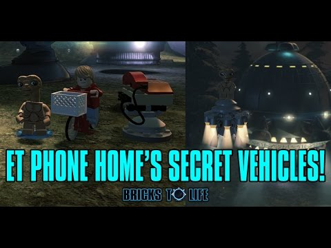 E.T. Phone Home's Secret Vehicles! Elliot's Bike & E.T.'s Spaceship - Lego Dimensions Wave 7