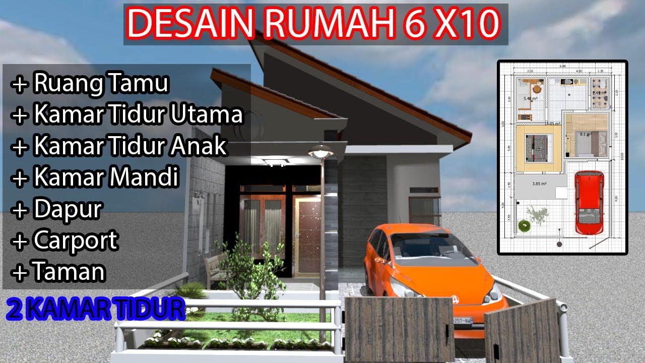 Desain Rumah Type 36/60 Atap Miring Terbaru 2020 - YouTube