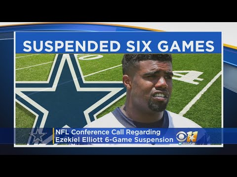NFL Conference Call Regarding Cowboys RB Ezekiel Elliott Suspended For Six Games