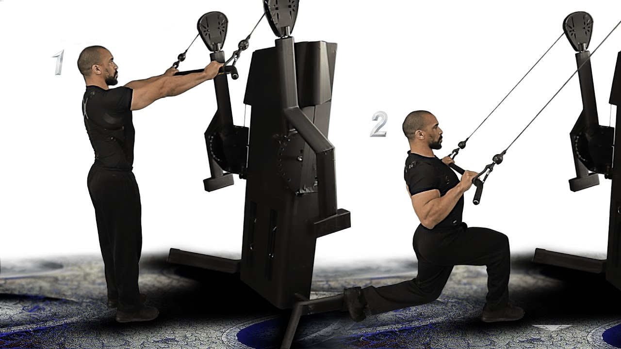 Back Lat Pulldown Rear Lunge 1 Cable Machine Straight Bar