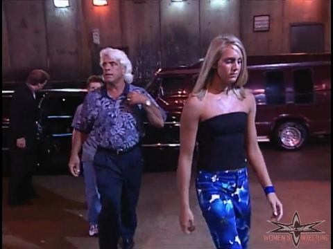 (720pHD): WCW Nitro 06/12/00 - Charlotte Flair & Family Backstage