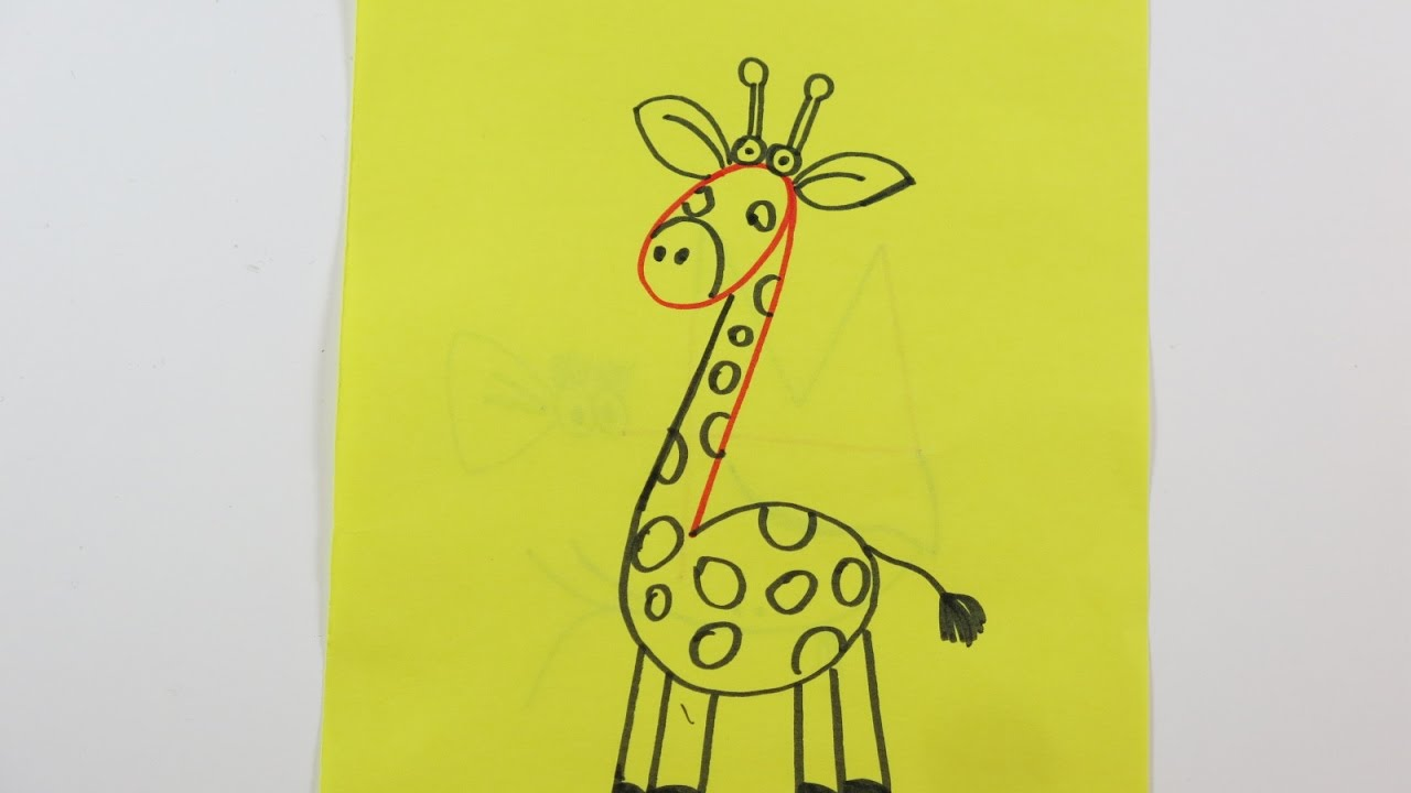 How To Draw A Giraffe Using Numbers: Simple Drawing Tutorial For Kids