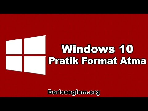 Windows 10 İçin Pratik Format Atma (CD'siz)