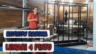 Review Rangka Lemari Aluminium 4 Pintu Youtube