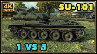 World of Tanks | SU-101 - 9 Kills - 4,8K Damage - 1 VS 5 Gameplay