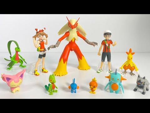 ポケモンスケールワールド ホウエン地方 全6種 開封 ポケモン Pokemon scale world Figure ハルカ ユウキ バシャーモ ミズゴロウ ヌマクロー エネコ アチャモ 食玩
