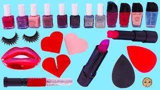 Dollar Tree Store Nail Polish + Lipstick Makeup Haul - Valentines Beauty 2020 Video