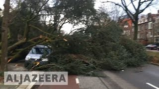 Deadly storm Friederike batters western Europe