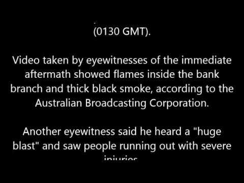 Australian sets himself on fire in Melbourne bank