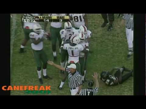 2005 Miami Hurricanes vs Wake Forest Highlights