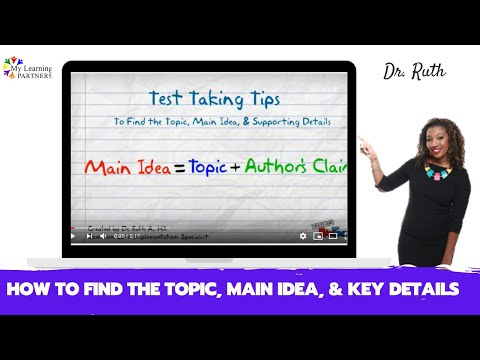 How to Find the Topic, Main Idea, Supporting Details