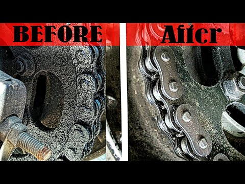 How to Clean Chain without Chain Spray | Life Hack
