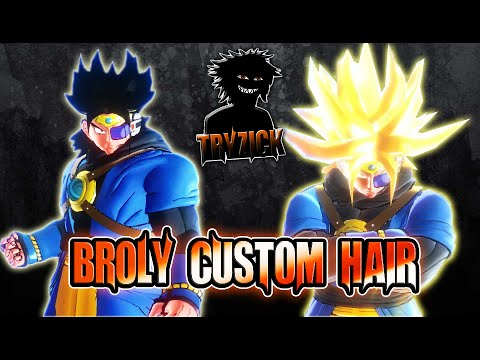 Dragonball Xv Broly To Custom Broly Hair Tryzick Youtube