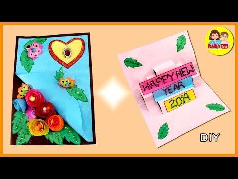New Year Greeting Card Making | Happy New Year 2019 | Handmade Greeting Card