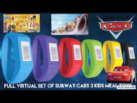 Full Virtual Set Of Subway Disney Pixar Cars 3 Kids Meal Toys Smart