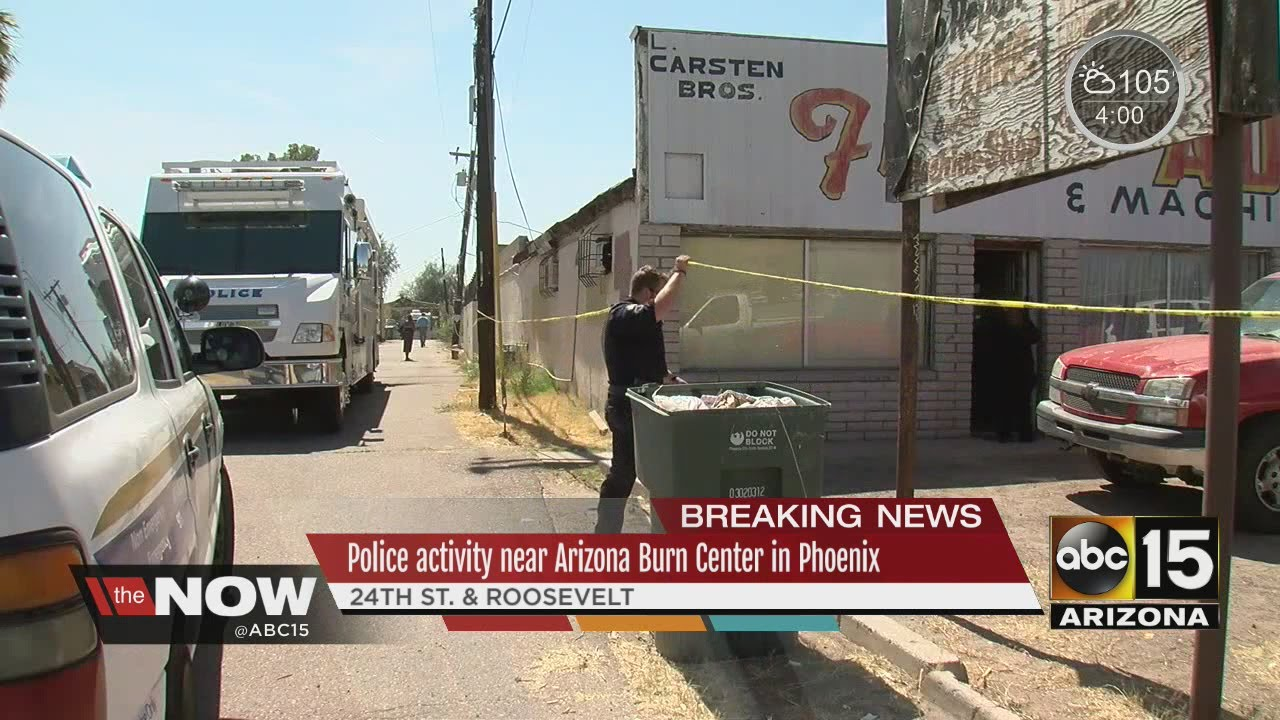 Police activity in central Phoenix