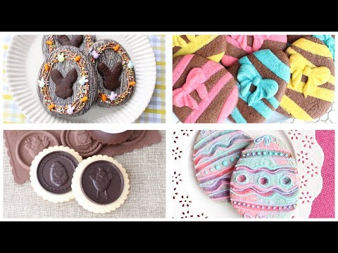 Easter Cookie Compilation - Crackle cookies, Colored dough & chocolate cookies