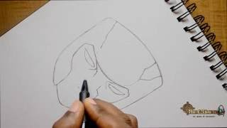 How to Draw speed drawing Tobirama Senju 2nd hokage part 1 - The Pencil Sketch