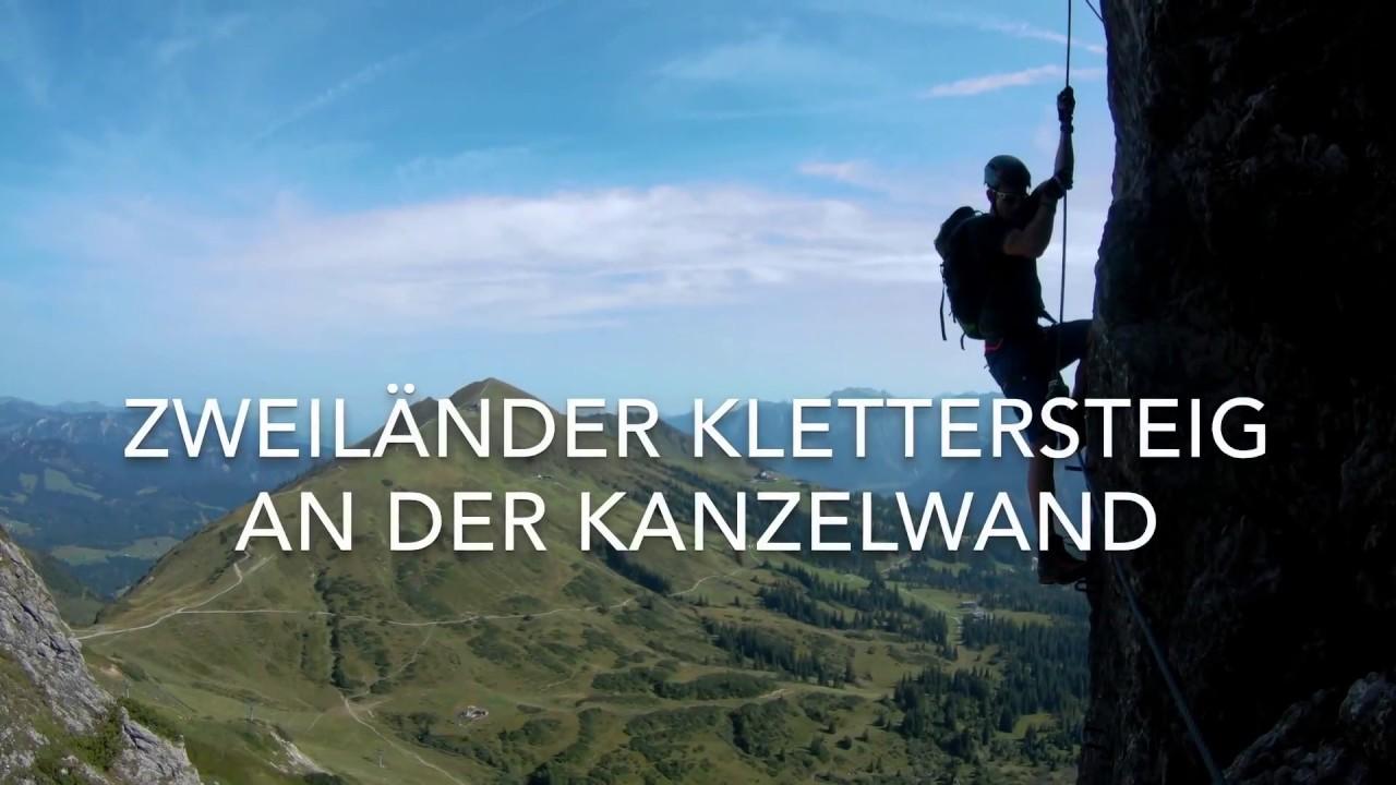 Mindelheimer Klettersteig Unfall : Zweiländer klettersteig an der kanzelwand sportklettersteig youtube