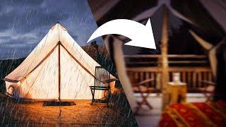 Regengeräusche im Zelt zum Einschlafen: Regen und Gewitter auf einem Zelt