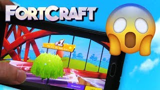 """Fortnite Mobile Clone """"FORTCRAFT"""" First Attempt Gameplay! (iOS and Android)"""