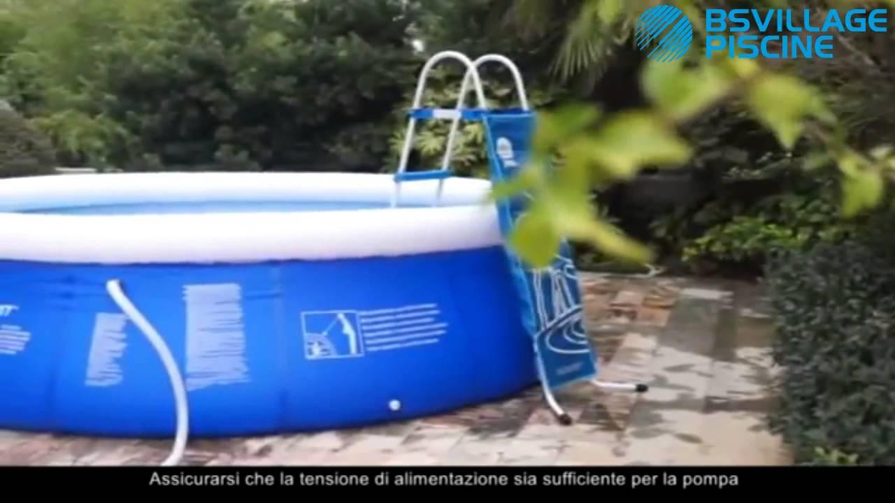 Montaggio Piscine fuori terra Prompt Set Jilong - YouTube