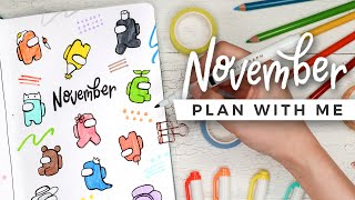 PLAN WITH ME | November 2020 Bullet Journal Setup