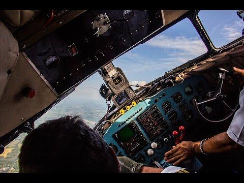 Flight aboard DC-3 in Colombia