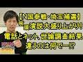 【埼玉補選】N国街頭演説、大盛り上がり!電話とネット、世論調査の結果に差があるのは何でダロー?(棒)
