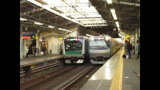 埼京線E233系7000番台「特急新宿行」&相鉄11000系11102F三ツ境駅通過!