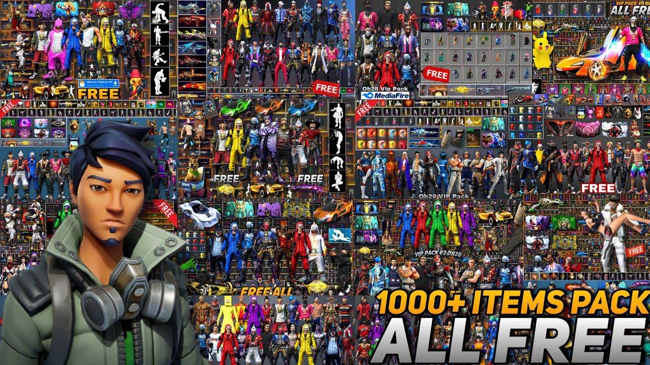 1000+ items Glitch Pack V14 FF🔥❗Free Fire Vip Glitch❗Dress Glitch FreeFire❗New VIP Glitch❗FF Emote