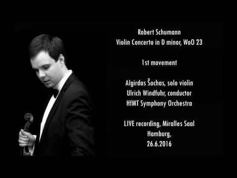 Robert Schumann - Violin Concerto in D minor, WoO 23, Part 1 of 2 | Algirdas Šochas