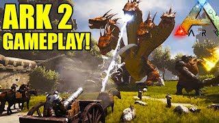 ARK 2 Trailer + Gameplay! Atlas Creatures & End Game Sea Demon! - Atlas