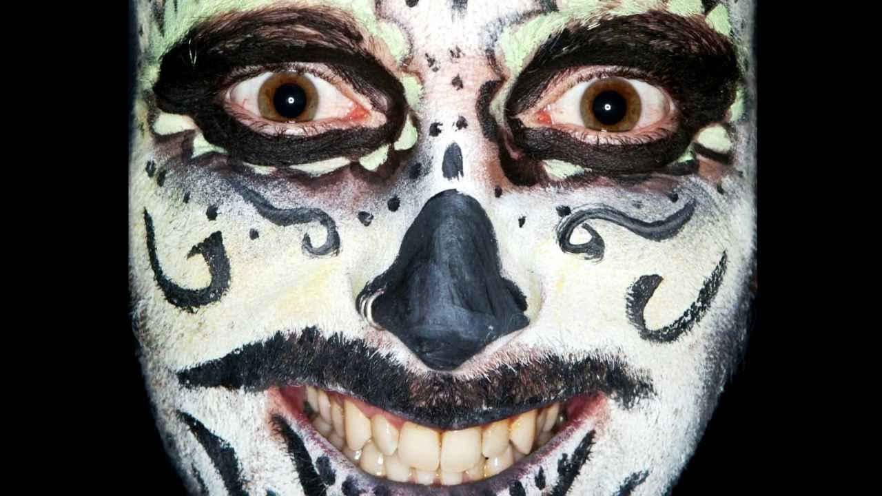 Day Of The Dead Faces By Ben Hopper Youtube
