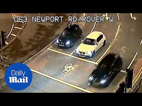 CCTV Footage Shows Fast And Furious-style Car Chase Through Cardiff - Daily Mail