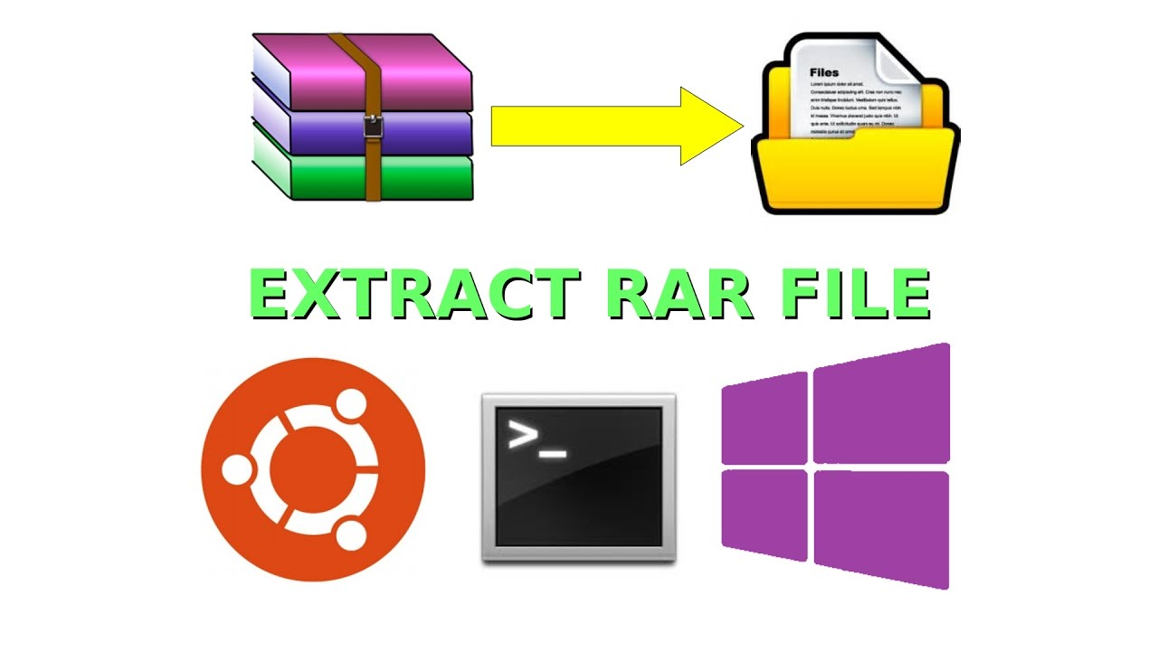 How Extract RAR File in Ubuntu Linux OS - Vietnam