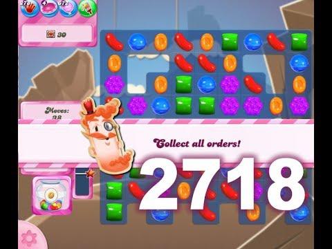 Candy Crush Saga Level 2718 (3 stars, No boosters)