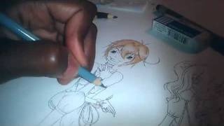 This is a Draw! Colouring an Ouji Lolita