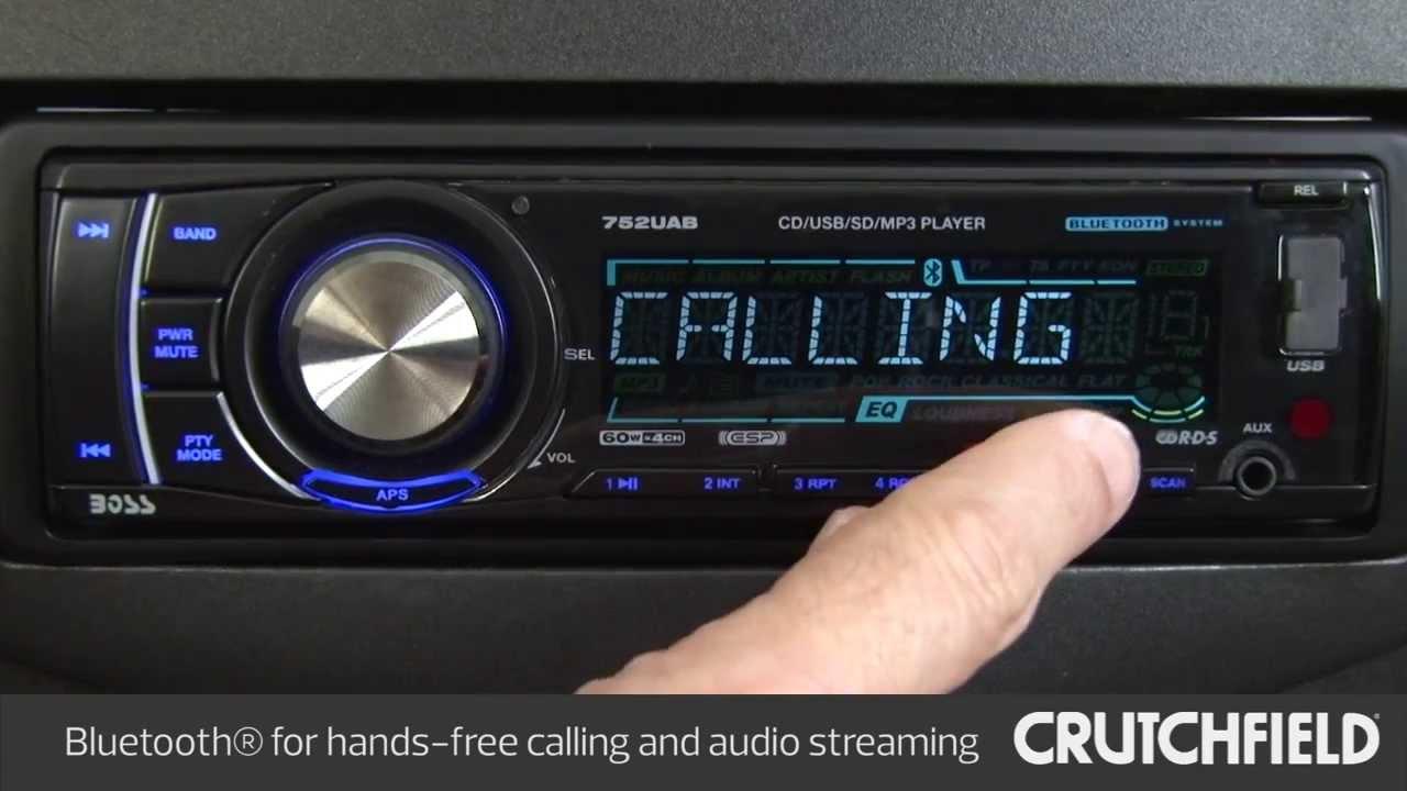 Boss Audio 752UAB Car Stereo Display and Controls Demo | Crutchfield Video