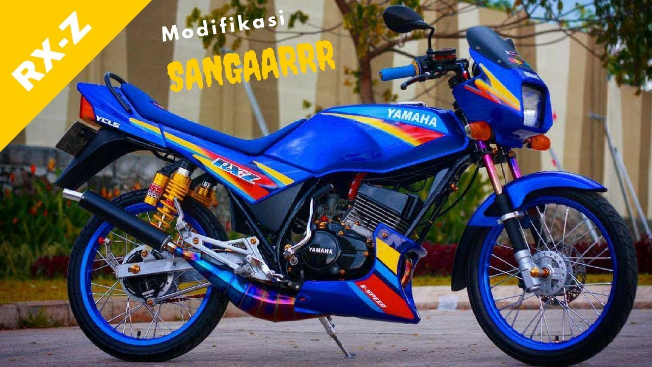 MODIFIKASI SANGARRR Motor LAWAS YAMAHA RXZ 135  YouTube
