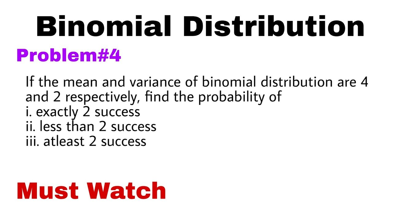 5. Binomial Distribution | Concept and Problem#4