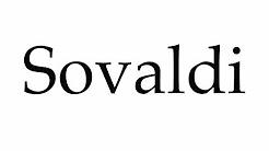 How to Pronounce Sovaldi