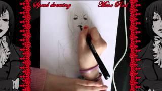 【Aki】Speed Drawing - Madame Red {Part 1/2: drawing}