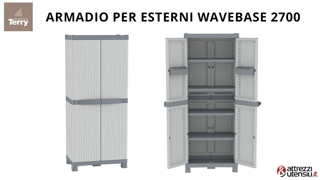Armadio per esterni terry wave base 2700 youtube for Leroy merlin armadi da esterno