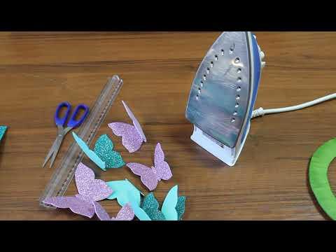 Wall hanging craft ideas. Foam sheet craft ideas. Butterfly diy. Glitter foam sheet craft. foamy