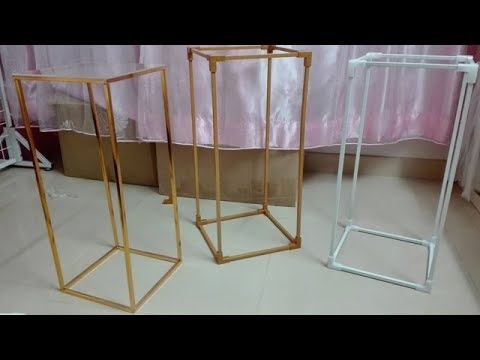 New-DIY rectangle stand / wedding centerpiece / reception / lantern / aisle ( not dollar tree )