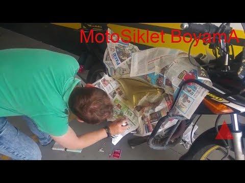 Motosiklet Boyama Nasıl Yapılır / Maskeleme / Zımpara / HONDA