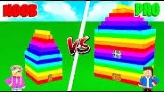 Minecraft Little Leah Plays - GIRL VS BOY RAINBOW HOUSE!