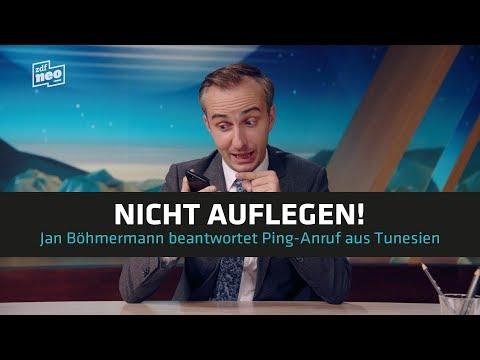 Nicht auflegen! Jan Böhmermann beantwortet Ping-Anruf aus Tuniesien | NEO MAGAZIN ROYALE - ZDFneo